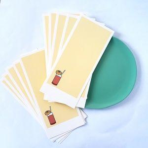 Set of 10 Tiki Party Blank Invites, Cardstock